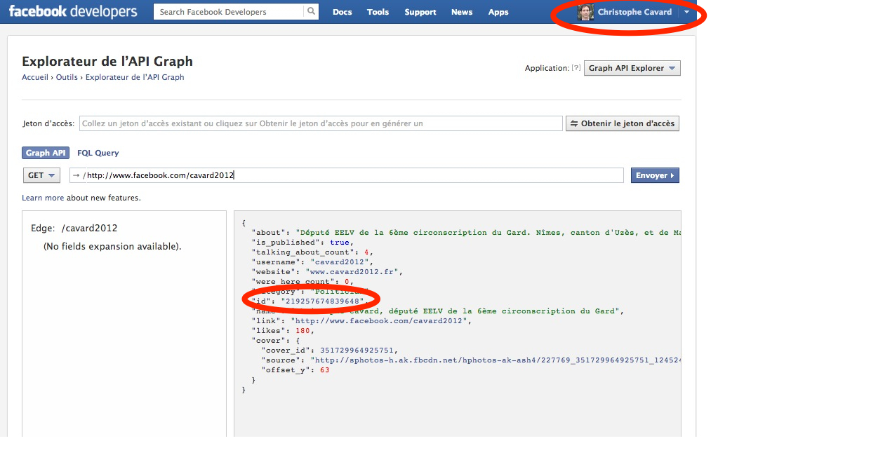 widget facebook boite pour